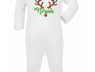 Reindeer personalised romper