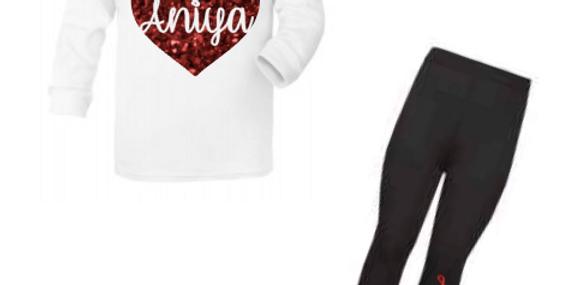 valentines hoodie set