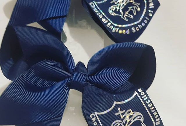 School Logo Bows