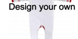 Design your own Christmas baby grow