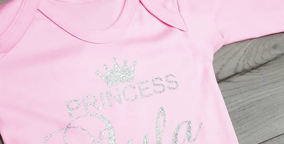 Princess has arrived romper and hat set