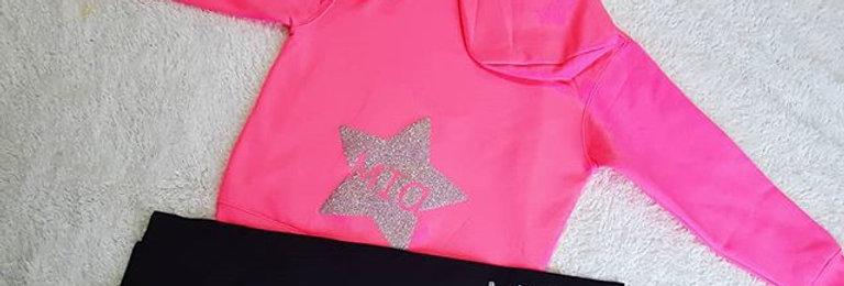Star Personalised hoodie (6m-13yrs) (zip hoodie)