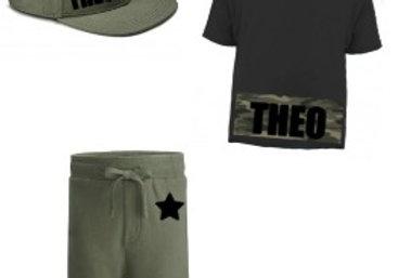 camo star shorts set