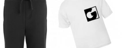 Personalised shorts and t-shirt set (block initia)
