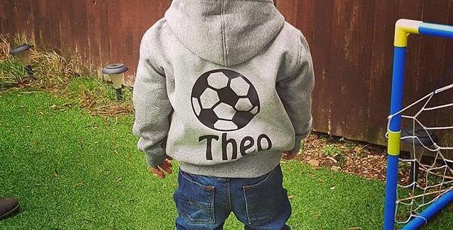 Football hoodie(6m-13yrs) (zip hoodie)