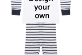 Design your own pjs (pink and navy)