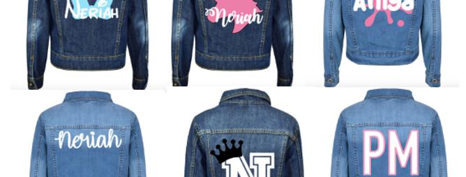 Personalised Denim Jacket 3yrs-13yrs (GIRLS)