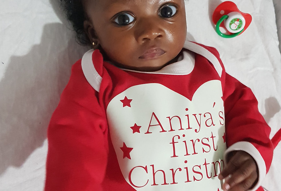 Christmas Glow In The Dark first christmas romper