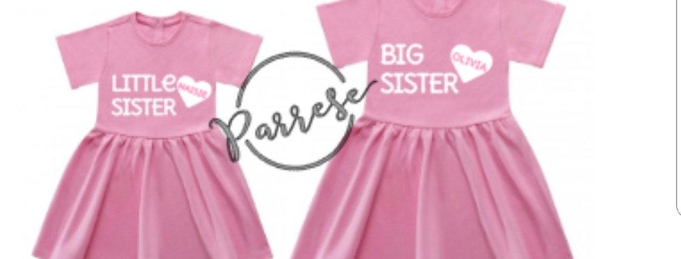 Big sister Little sister heart summer dresses
