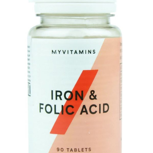 MYPROTEIN iron&folic acid железо+фолиевая кислота 90таб