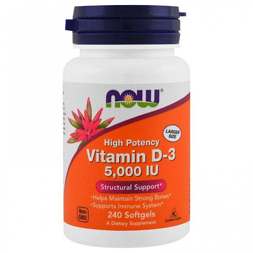 NOW витамин D3 5000iu 120капс