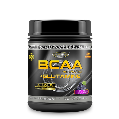 Quantum BCAA 4:1:1 + Glutamine, 540гр, 30порц. 4 вкуса