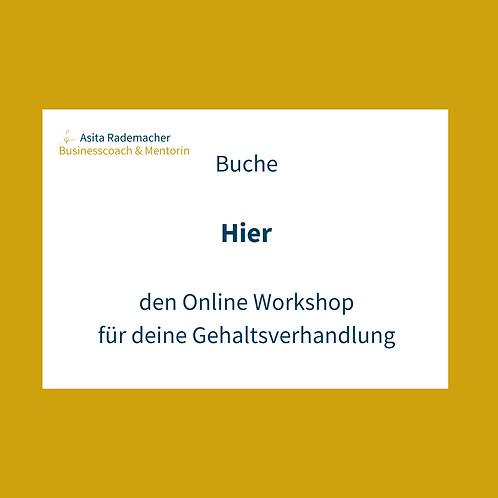 Der Online-Workshop für deine Gehaltsverhandlung