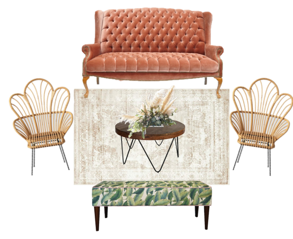 Vintage Retro Eclectic Miami Lounge Furniture  | Mi Vintage