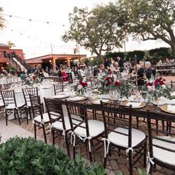 Wedding decor at Thalatta