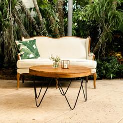 Miami wedding venues, Miami Farm tables, Miami table and chairs, Miami event Lounge furniture