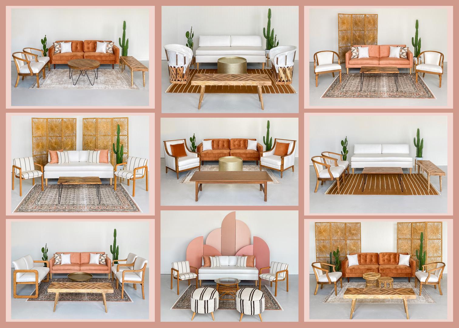 midwest mid-century wedding lounge renta