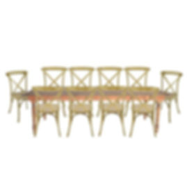 Miami Farm Tables and Chairs For Rent