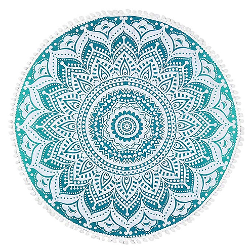 AQUA MANDALA floor pillow