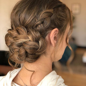 Bohemian textured updo using all Kenra p