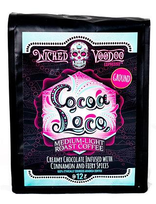 Coffee Cocoa Loco French Press Ground 12 oz