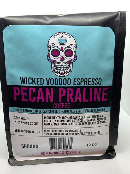 Coffee Pecan Praline Whole Bean 12 oz