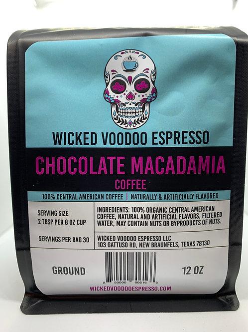 Coffee Chocolate Macadamia Nut Whole Bean 12 oz