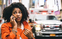 afro american woman calling 911 in New y