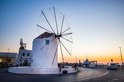 Greek Sunset Greece Santorini Mykonos Wi