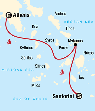 15 Days Sailing Greece - Santorini to At