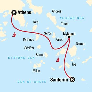 15 Days Sailing Greece - Santorini to At