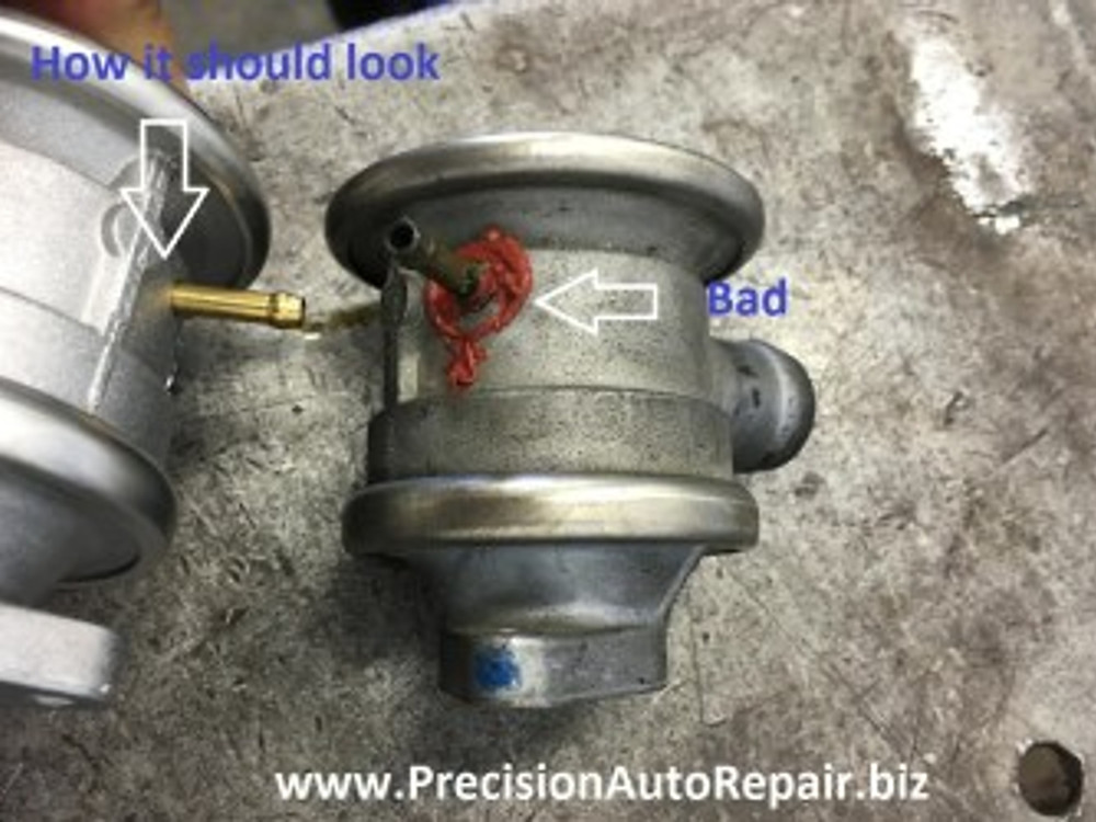 Audi check engine light repair combination valve