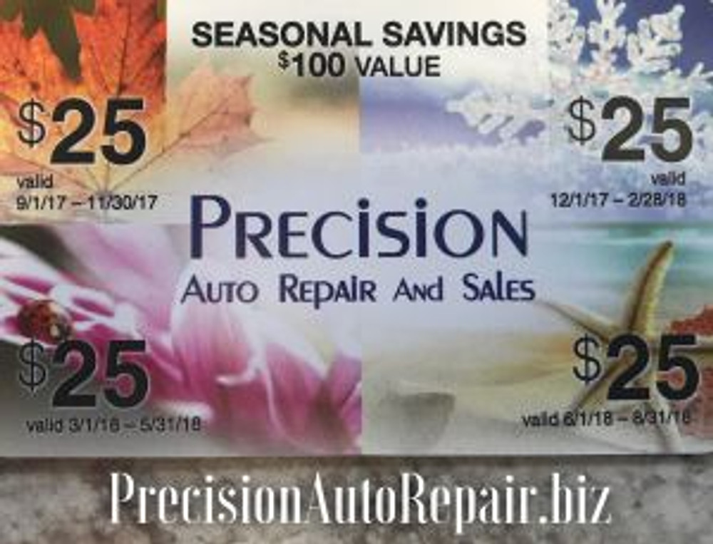 Precision Auto Repair Customer Loyalty card