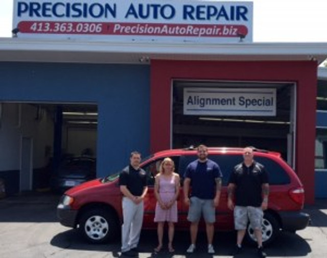 Precision Auto Repair and sales Repair It Forward winner
