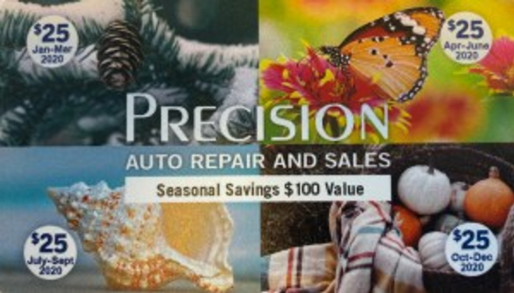 Precision Auto Repair West Springfield MA Customer Loyalty Card