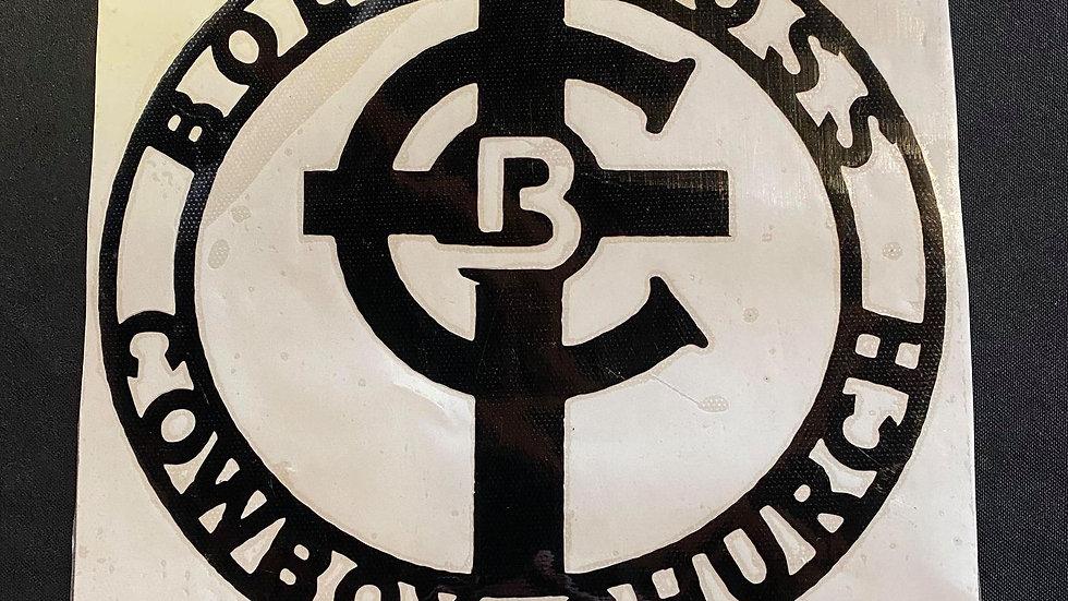Large Black Bold Cross Decal