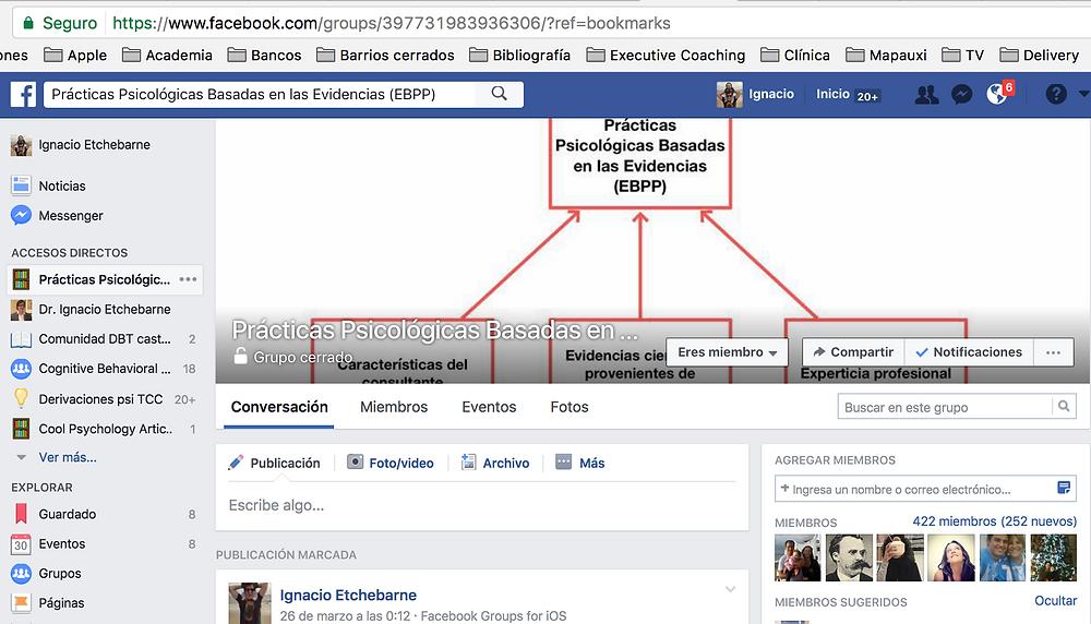 Grupo de Facebook Prácticas psicológicas basadas en las evidencias (EBPP)