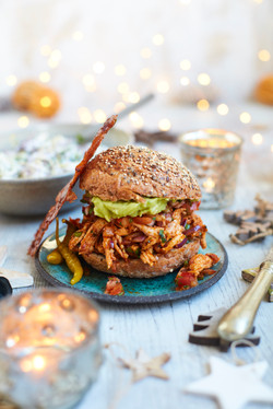 Pulled Turkey Burger
