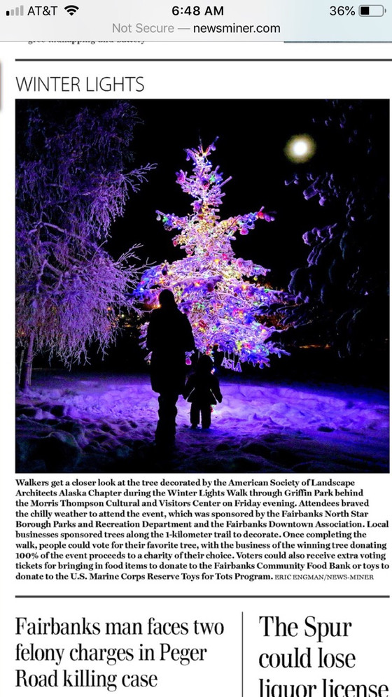 ASLA AK Featured in Fairbanks Daily News-Miner