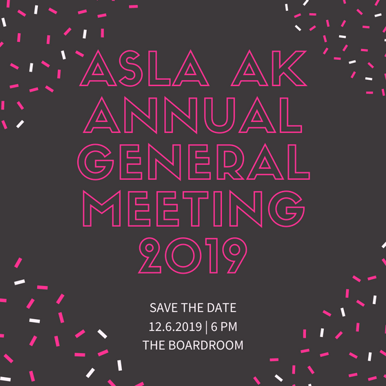 SAVE THE DATE: 2019 Annual General Meeting