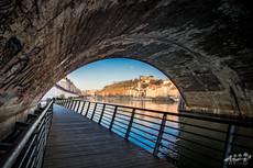 Le long de la saône, Lyon, Wallophoto