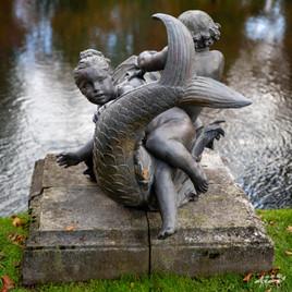 Sculpture des bassins des jardins d'Annevoie