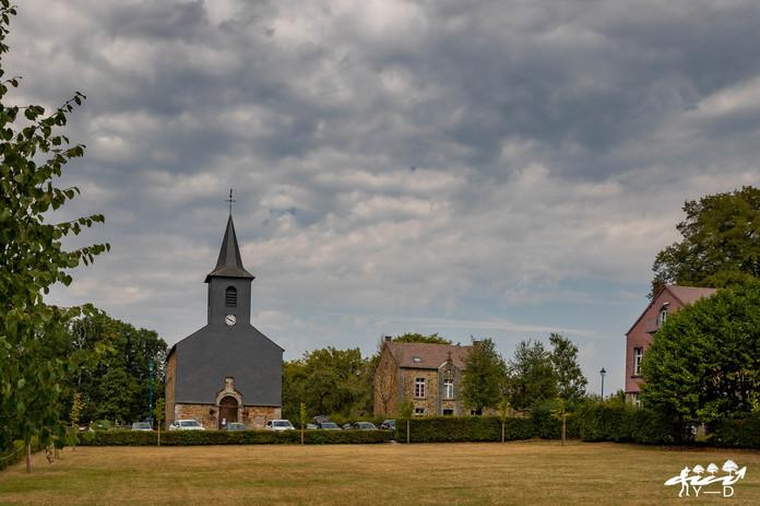 Eglise Saint-Meen, Bruly-de-pesche, Wallophoto, août 2020