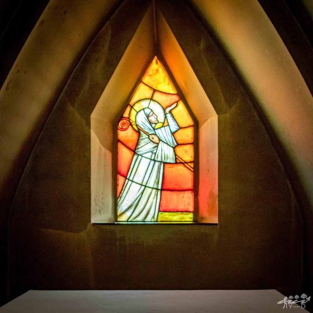 Vitrail de l'Abbaye Notre Dame de Cordemois (ou de Clairefontaine)