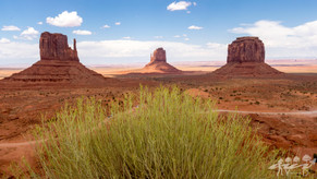 Merrick Butte, East Mitten Butte et west Mitten Butte, Monument Valley, Arizona, Etats-Unis