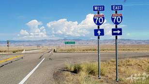 Cisco, road in USA, roadtrip in USA