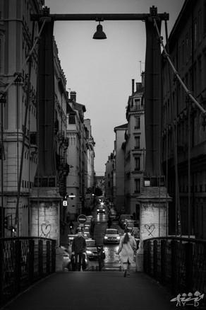 Passerelle des amoureux, Lyon, Wallophoto