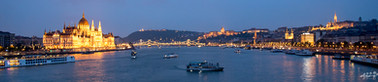 Le parlement de budapest vu du pont Margueritte