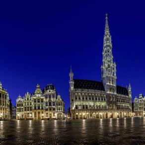 Bruxelles en confinement et à l'heure bleue...