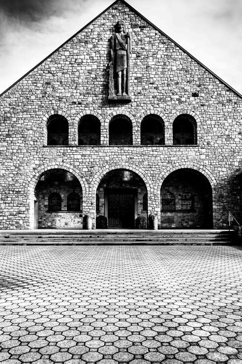 Eglise paroissiale Saint-Jean le Baptiste, Rocherath, Wallophoto, février 2021